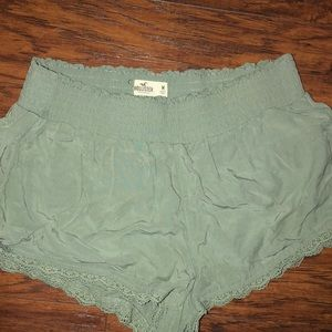 Medium olive green hollister flowy shorts